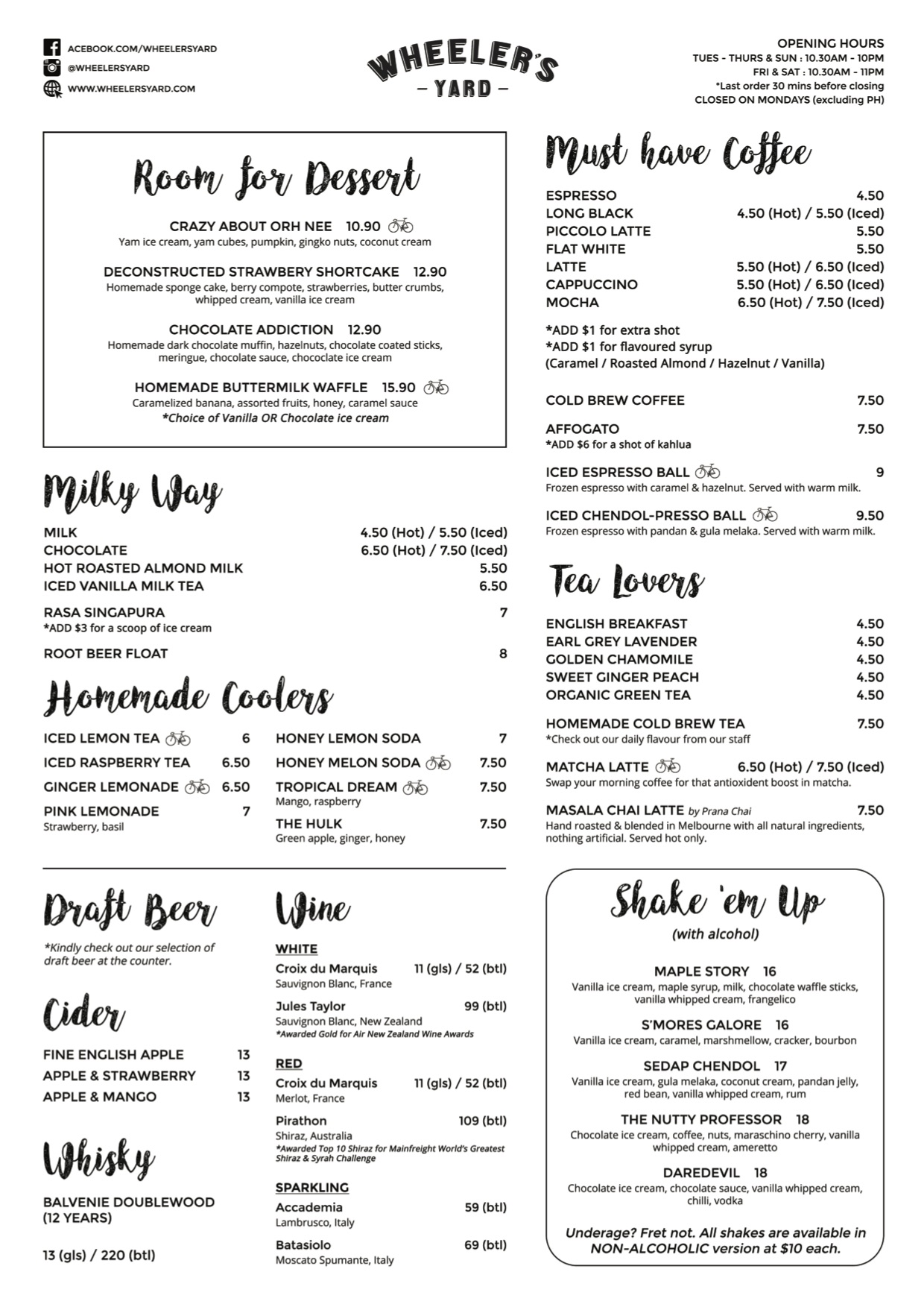 Wheeler's Yard - Menu Pg2 - TREAT
