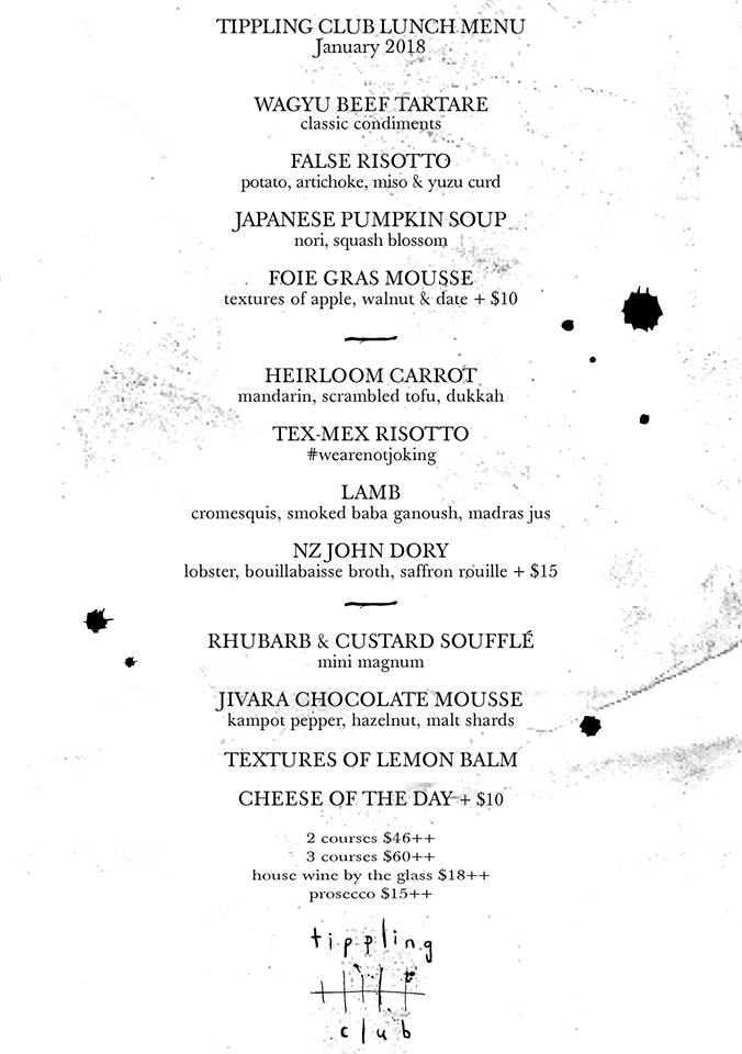 Tippling Club - Menu - TREAT