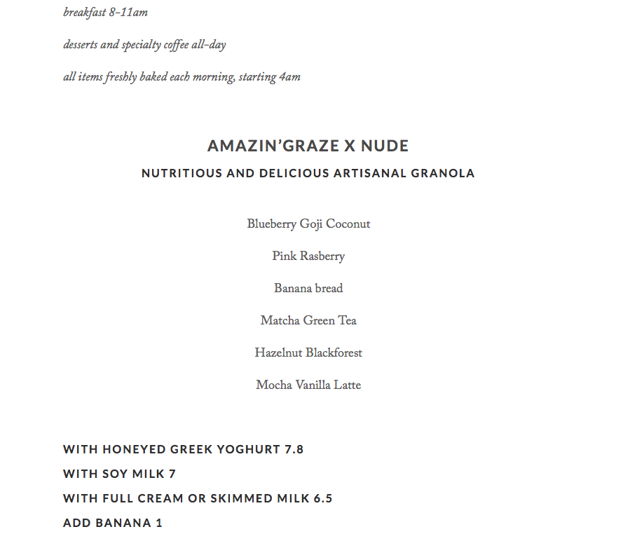Nude Seafood - Breakfast Menu Pg1 - TREAT