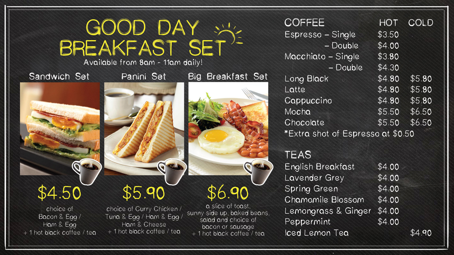 BreadTalk Cafe - Breakfast Menu - TREAT