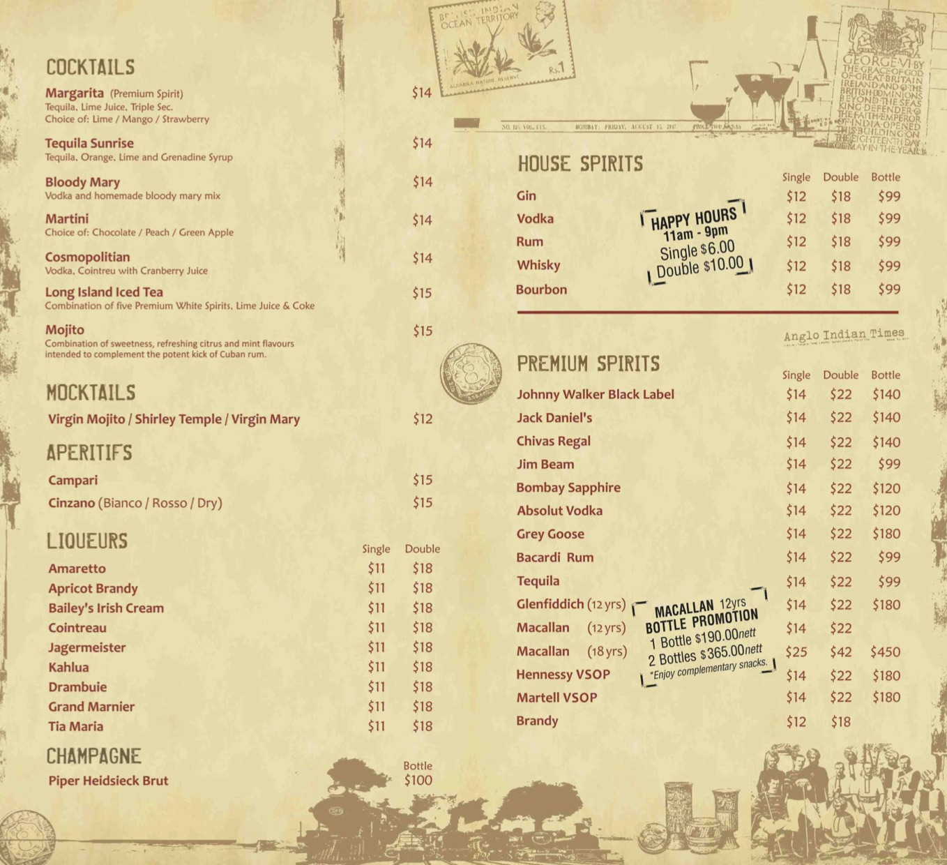 Angli Indian Cafe & Bar - Beverages Menu Pg2 - TREAT