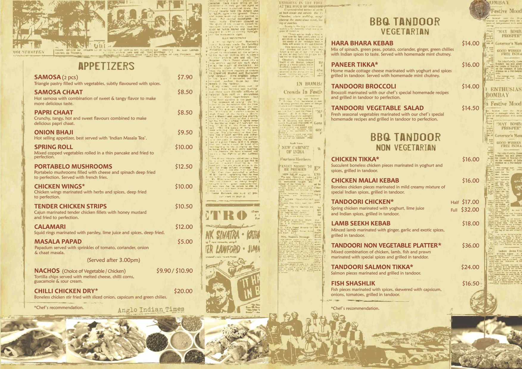 Angli Indian Cafe & Bar - Food Menu Pg2 - TREAT
