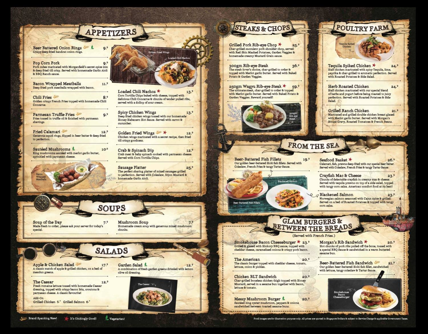 Morganfield's - Appetizers & Mains Menu - TREAT