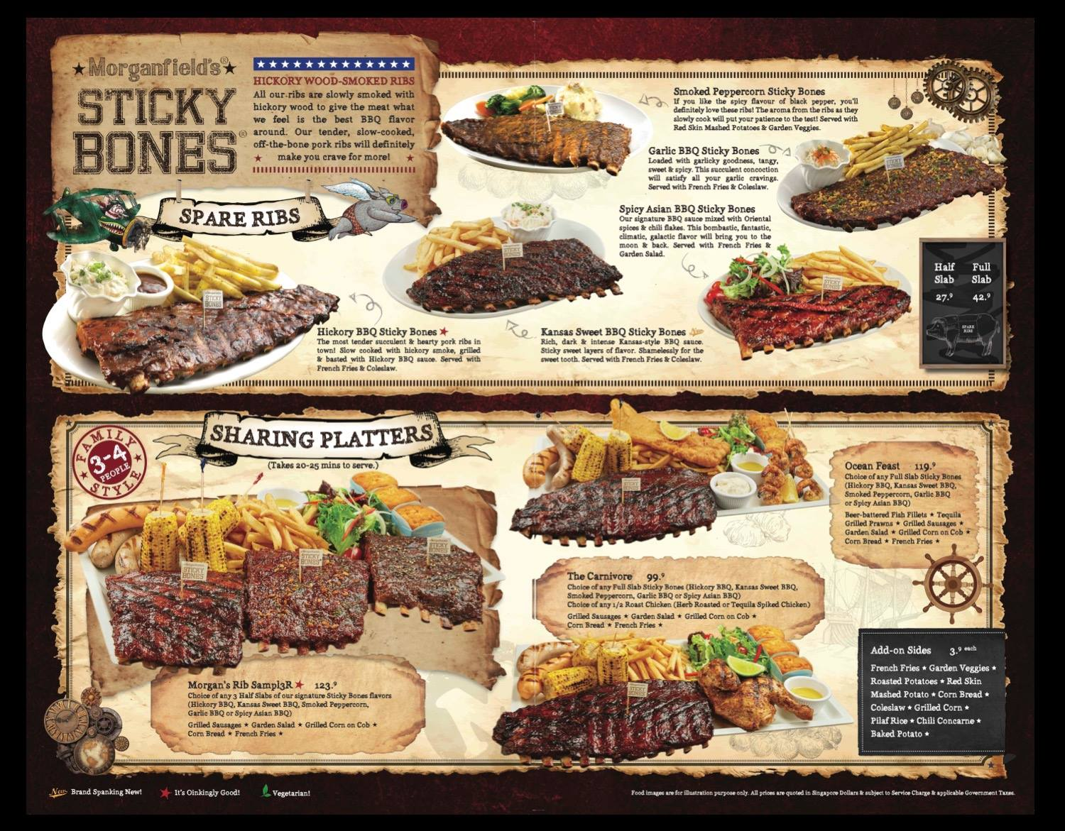 Morganfield's - Sticky Bones and Sharing Platters Menu - TREAT