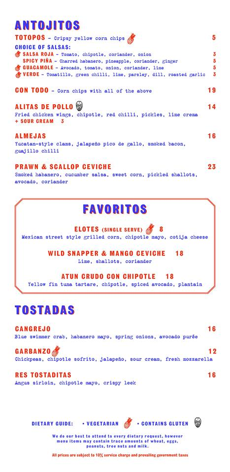 Super Loco @ Robertson Quay - Dinner Menu Pg1 - TREAT