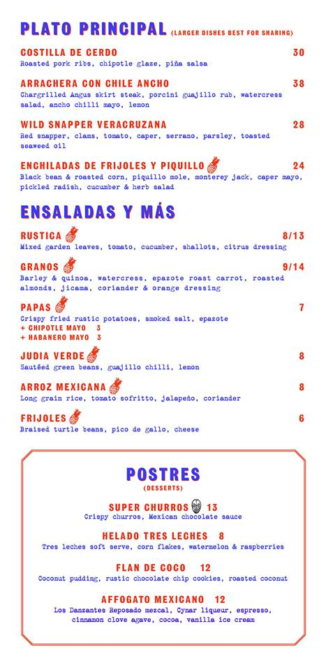 Super Loco @ Robertson Quay - Dinner Menu Pg3 - TREAT