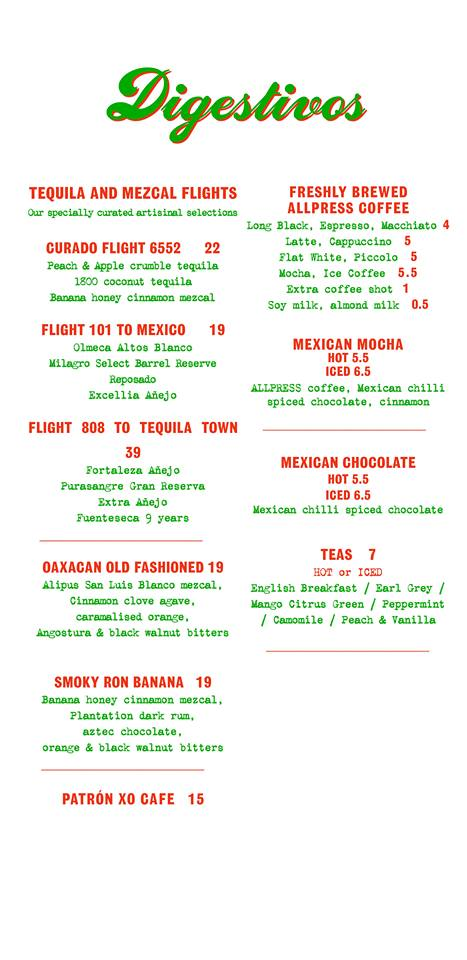 Super Loco @ Robertson Quay - Dinner Menu Pg4 - TREAT