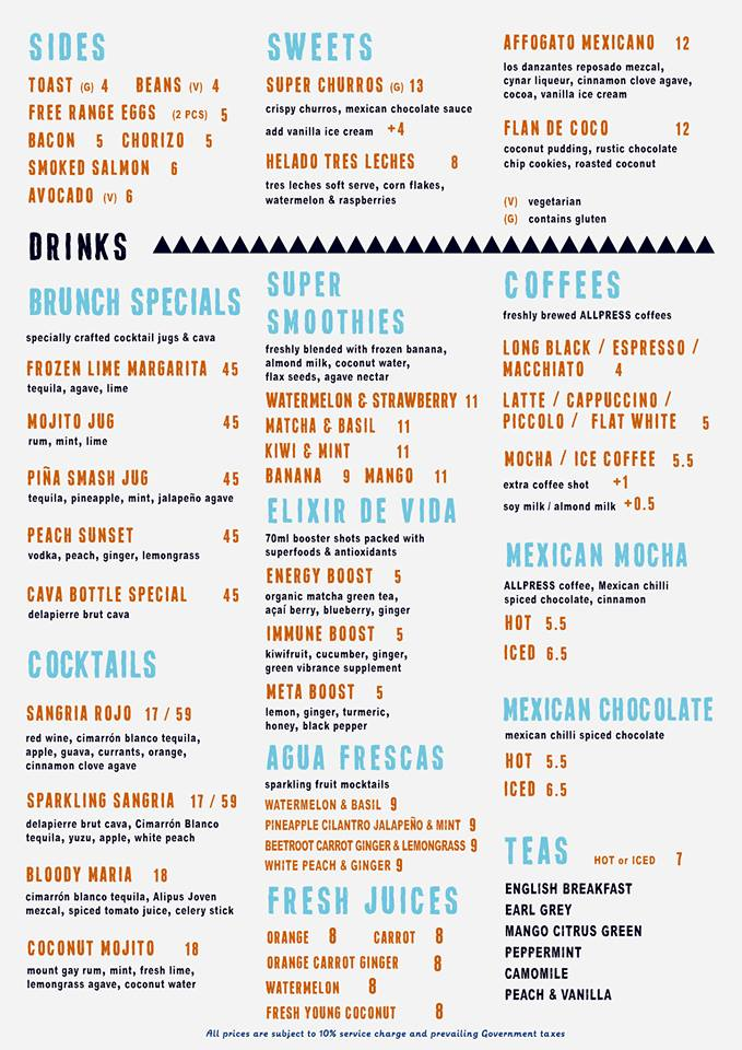 Super Loco @ Robertson Quay - Brunch Menu Pg2 - TREAT