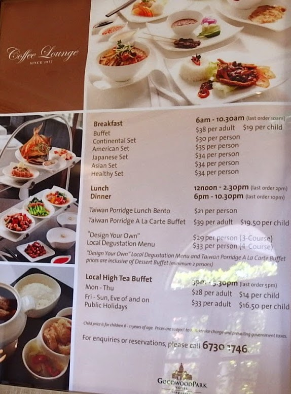 Coffee Lounge @ Goodwood Park Hotel - Menu 2 - TREAT