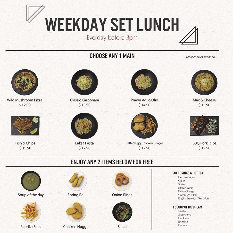 7th Heaven KTV and Cafe - Weekday Set Lunch Menu - TREAT