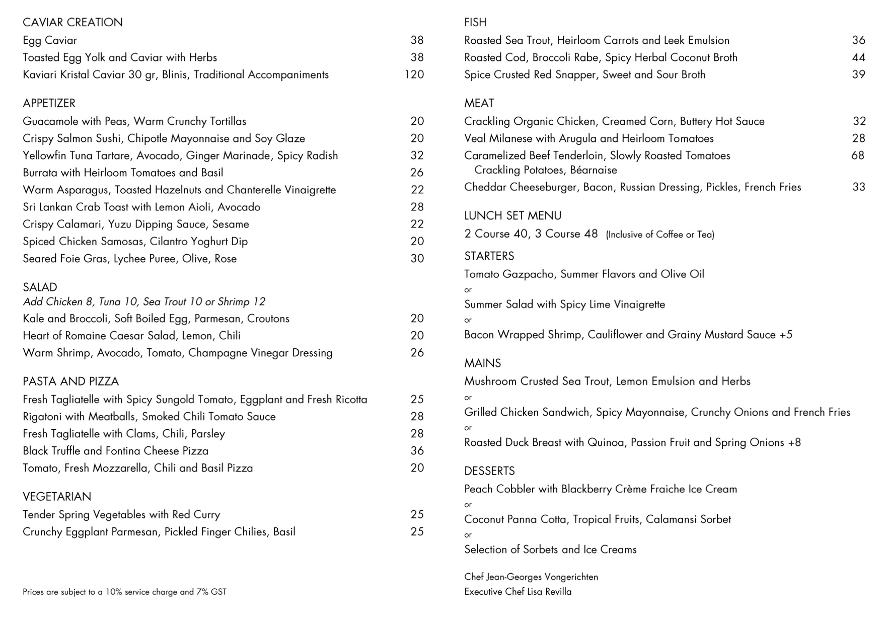 The Dempsey Cookhouse & Bar - Lunch Menu - TREAT