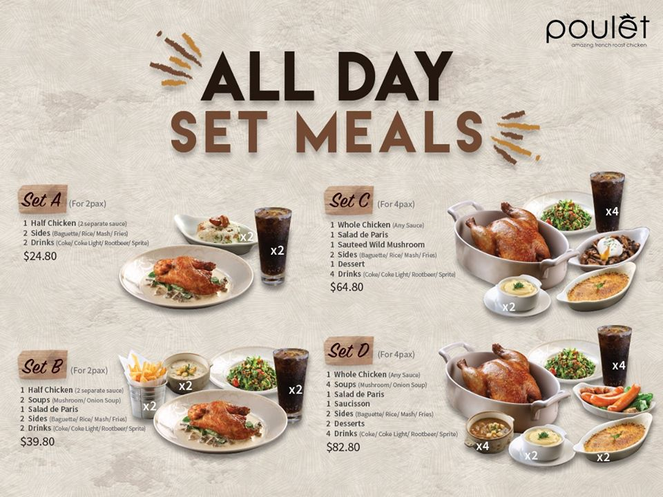 Poulet - All Day Set Meals