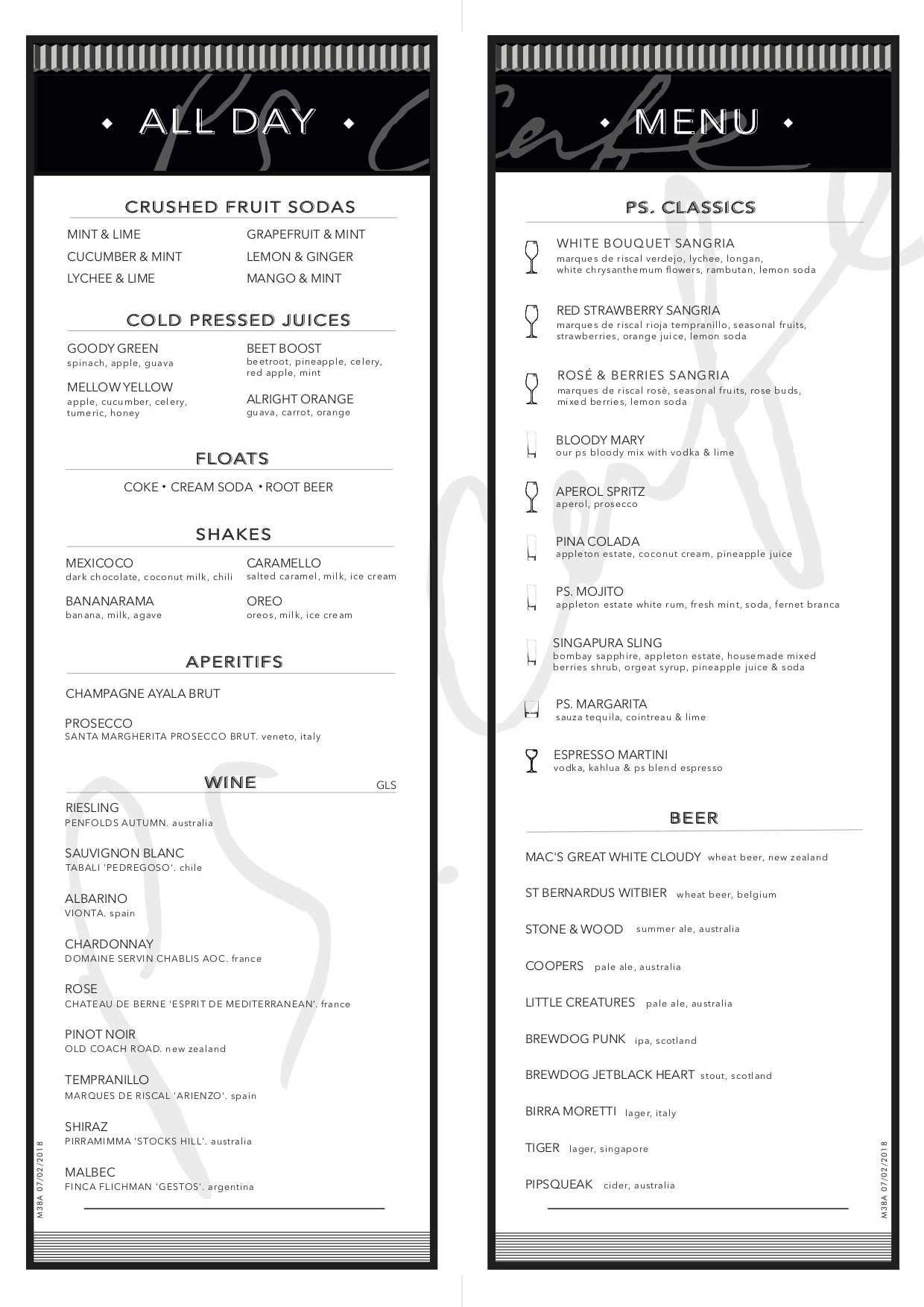 PS Cafe @ Martin Road - All Day Menu - TREAT