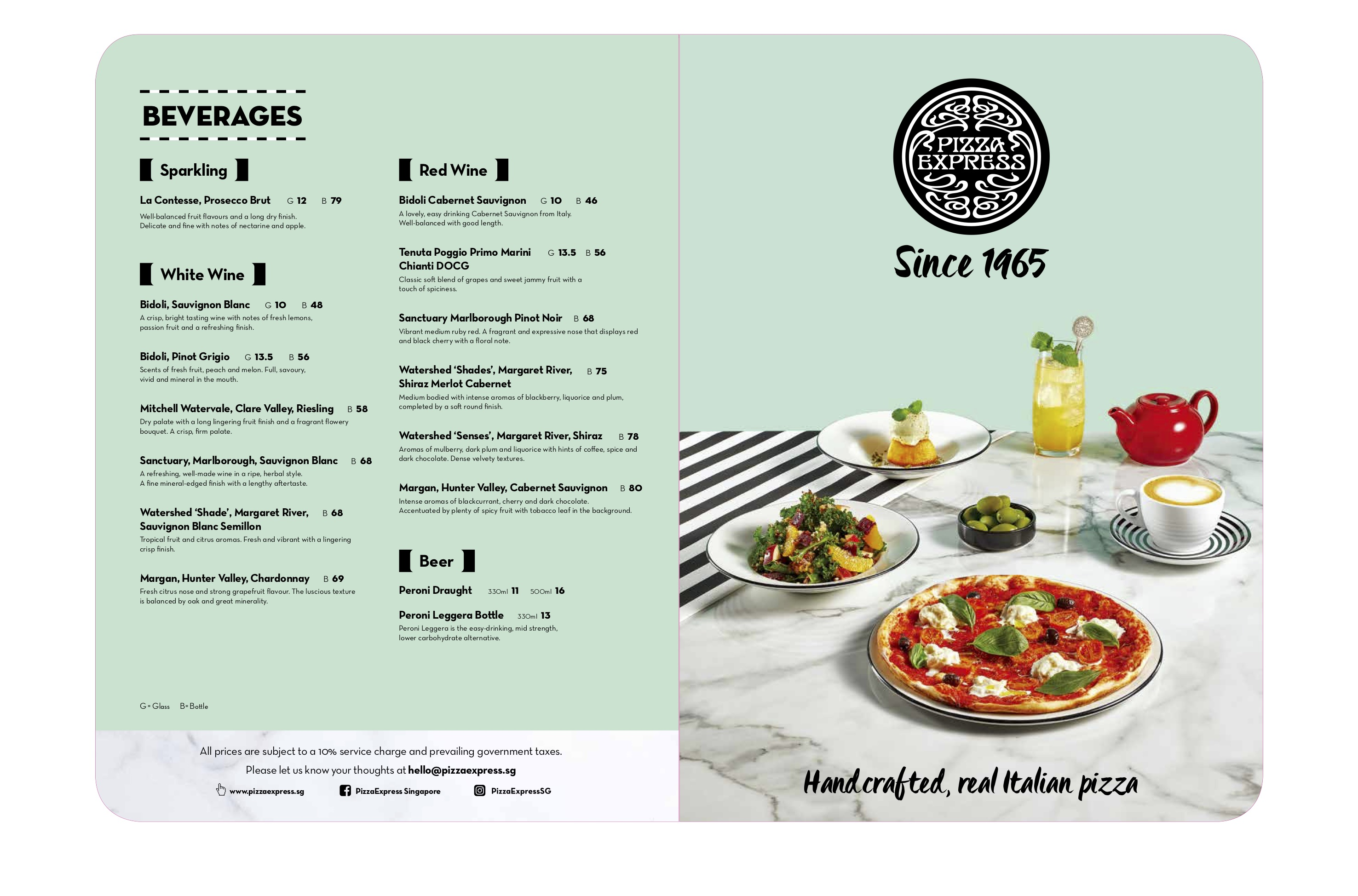 Pizza Express - Menu - TREAT