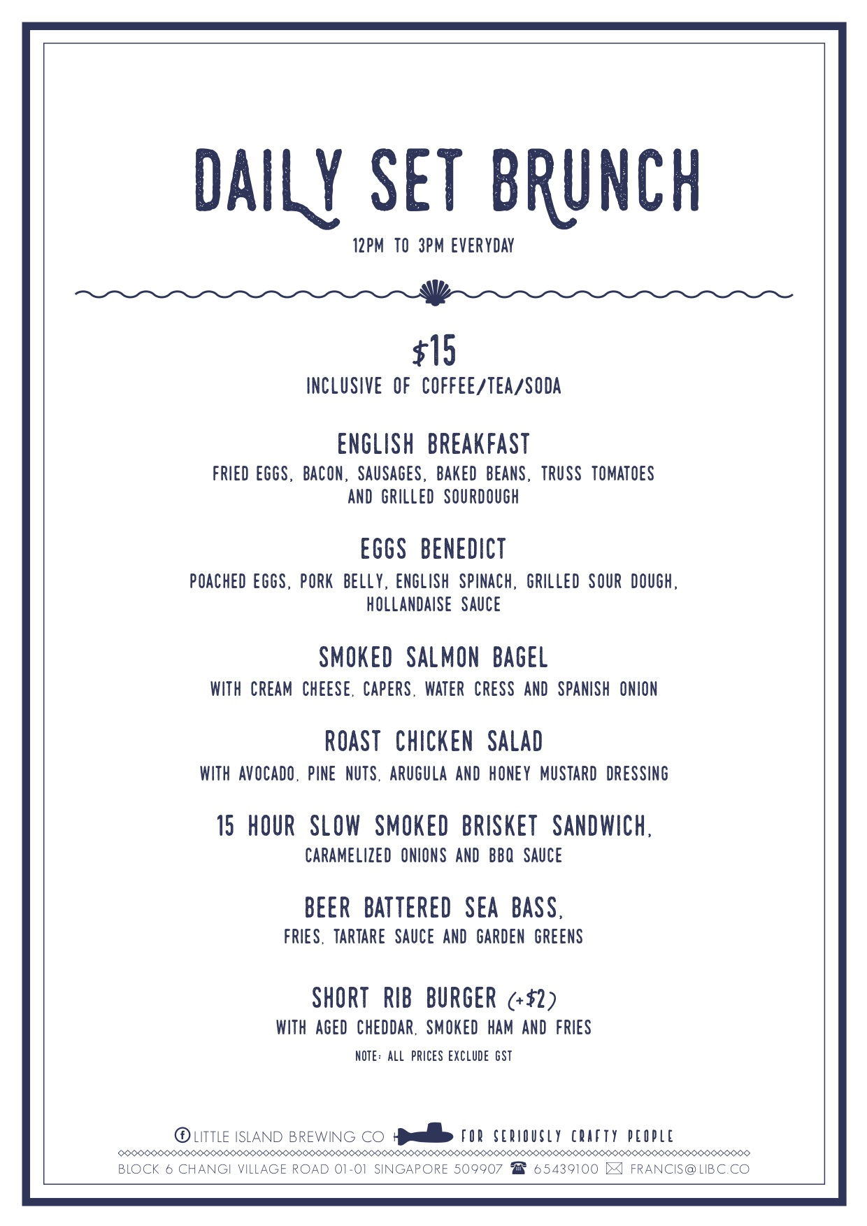 Little Island Brewing Co - Daily Menu - TREAT